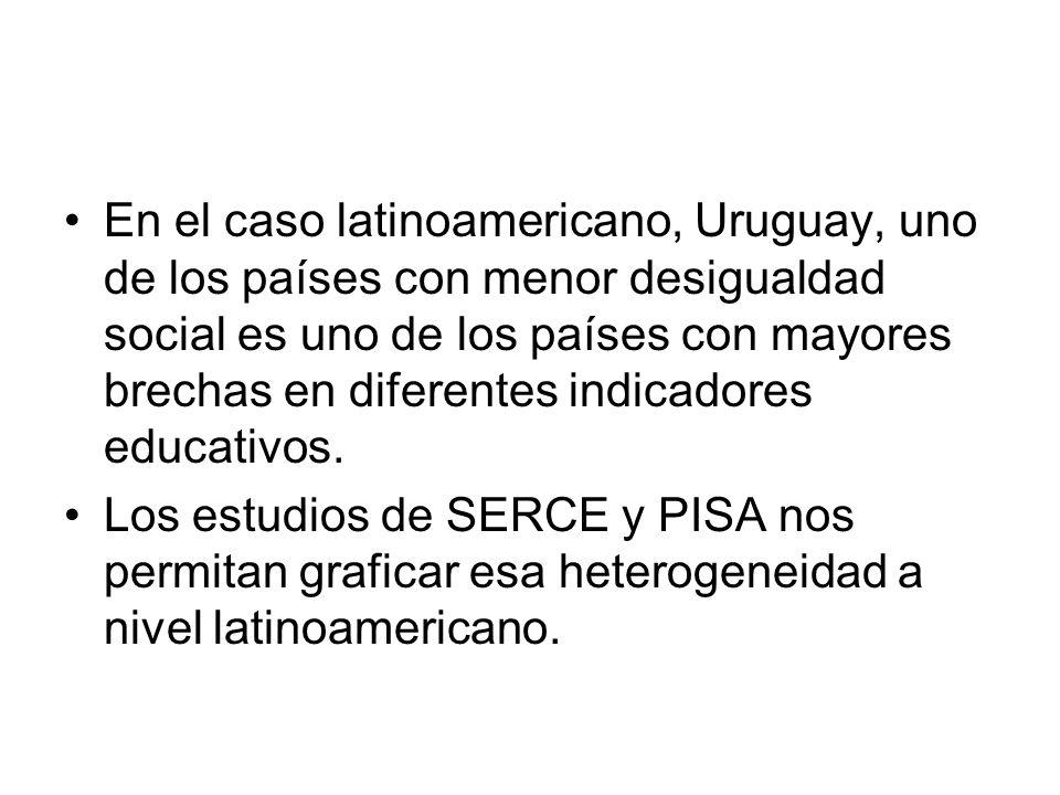 Perú es uno de los países con mayor desigualdad entre escuelas (León et al, 2011)