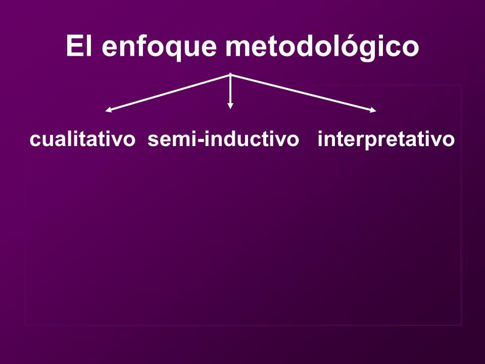El enfoque metodológico cualitativo semi-inductivo interpretativo