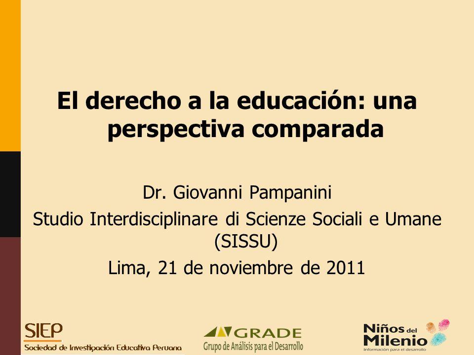 El derecho a la educación: una perspectiva comparada Dr.