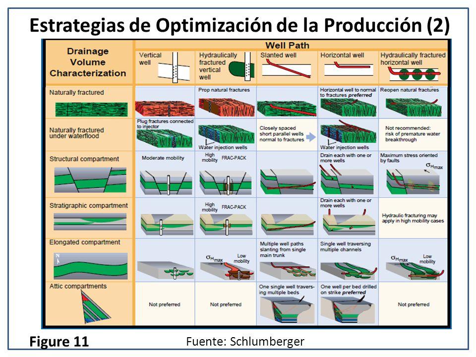 Estrategias de Optimización de la Producción (2) Fuente: Schlumberger Figure 11