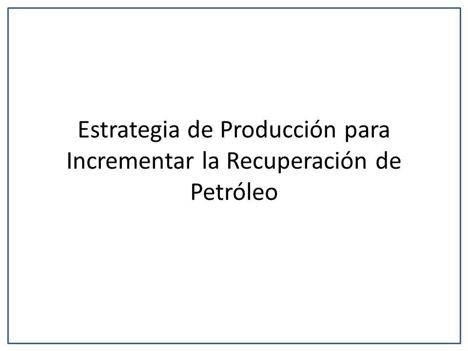 Estrategia de Producción para Incrementar la Recuperación de Petróleo