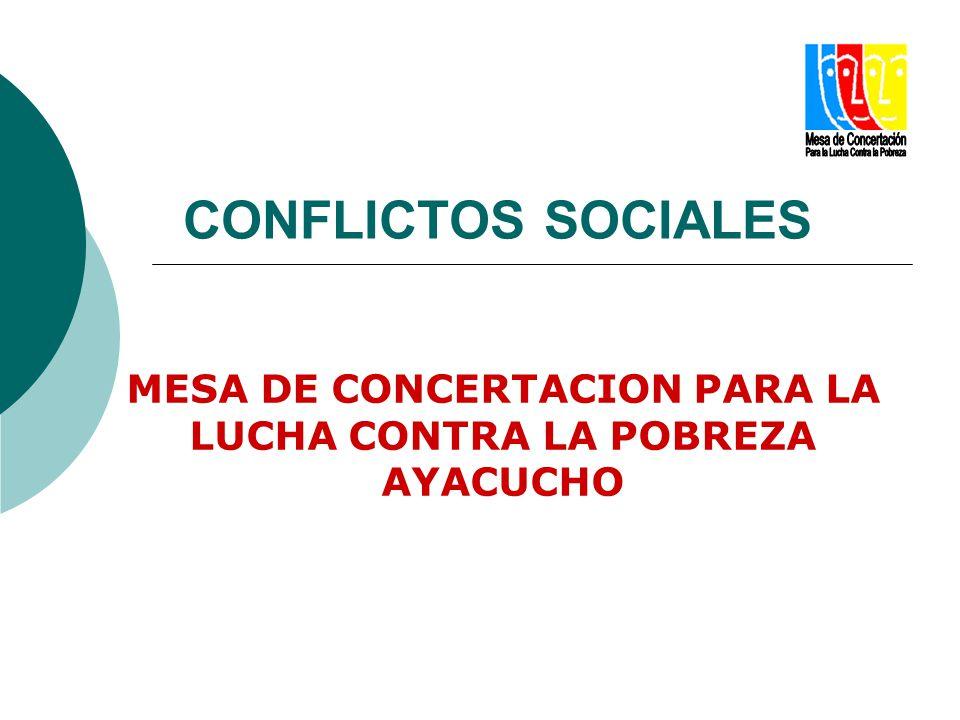 CONFLICTOS SOCIALES MESA DE CONCERTACION PARA LA LUCHA CONTRA LA POBREZA AYACUCHO