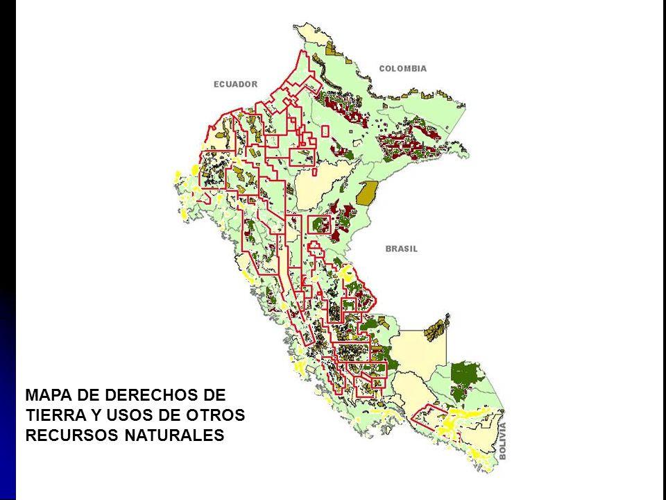 Áreas Naturales Protegidas Concesiones Forestales adjudicadas Concesiones forestales no adjudicadas Comunidades Nativas Comunidades Campesinas Contrat