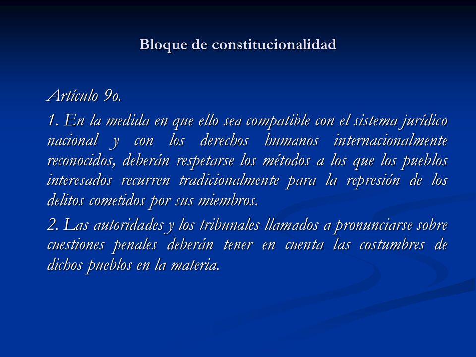 Bloque de constitucionalidad Artículo 10.1.