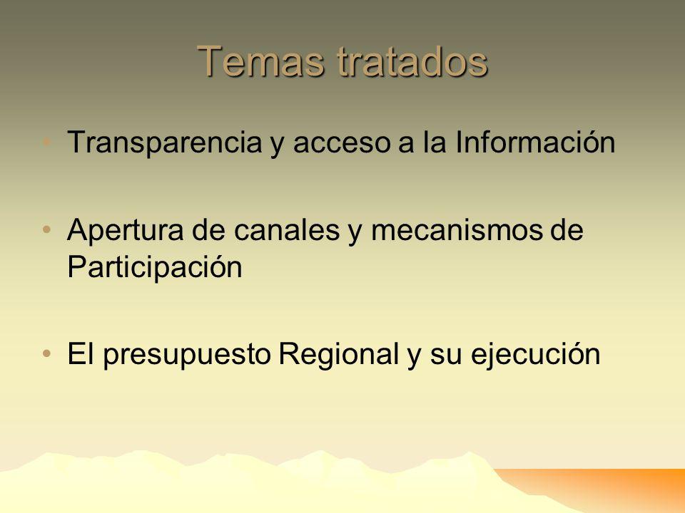 Contexto Regional Nuevo Presidente Regional El 5% de las municipalidades Distritales están acreditadas. Crisis manifestada en algunos gobiernos locale