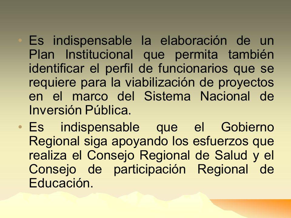 El Gobierno Regional deberá fomentar las alianzas necesarias con el sector privado para atraer mayores recursos de inversión a la región. El Gobierno