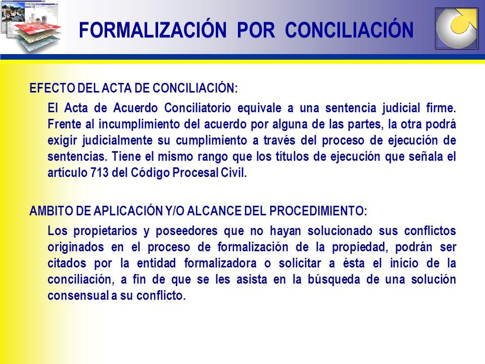EFECTO DEL ACTA DE CONCILIACIÓN: El Acta de Acuerdo Conciliatorio equivale a una sentencia judicial firme. Frente al incumplimiento del acuerdo por al