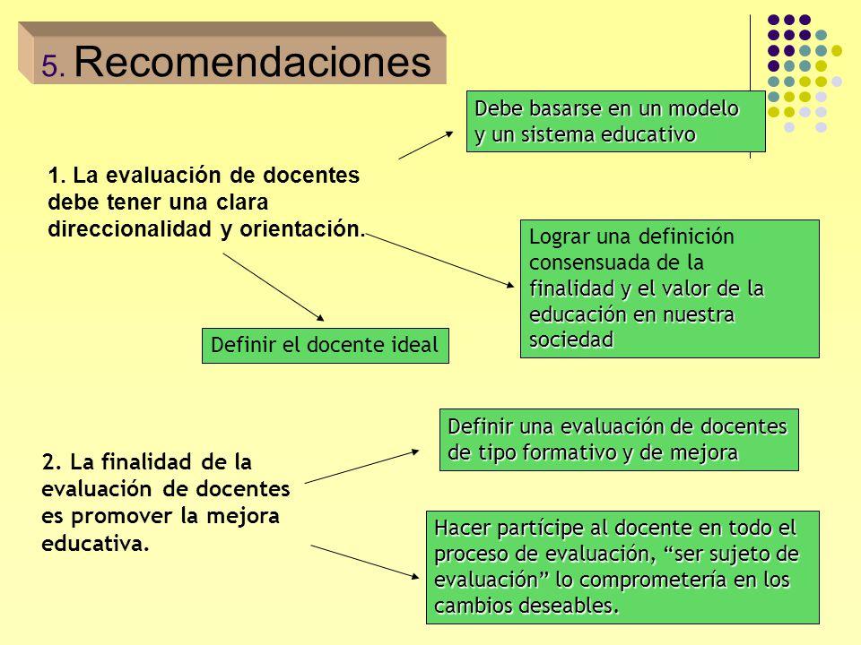23 1. La evaluación de docentes debe tener una clara direccionalidad y orientación. Debe basarse en un modelo y un sistema educativo Lograr una defini