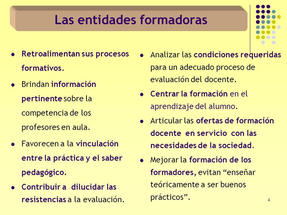 15 A nivel de centros educativos públicos Falta de capacitación del personal directivo de los centros para desarrollar la evaluación del docente.