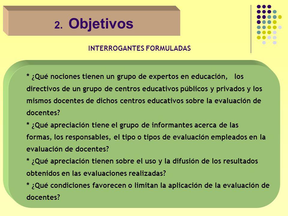 A nivel de centros educativos Percepción de la evaluación de docentes de los Centros educativos privados Aceptación de las evaluaciones de docentes como parte de la función de las autoridades y promotores de los centros educativos.
