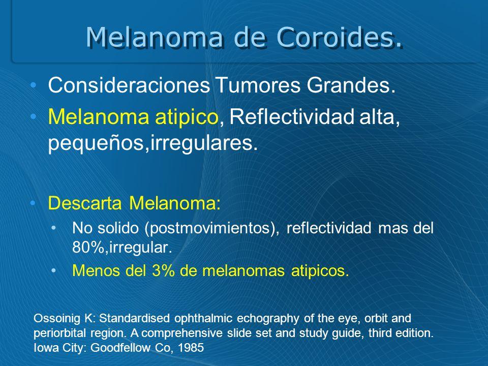 Melanoma de Coroides.Consideraciones Tumores Grandes.