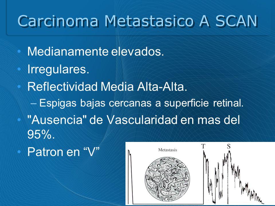 Carcinoma Metastasico A SCAN Medianamente elevados.