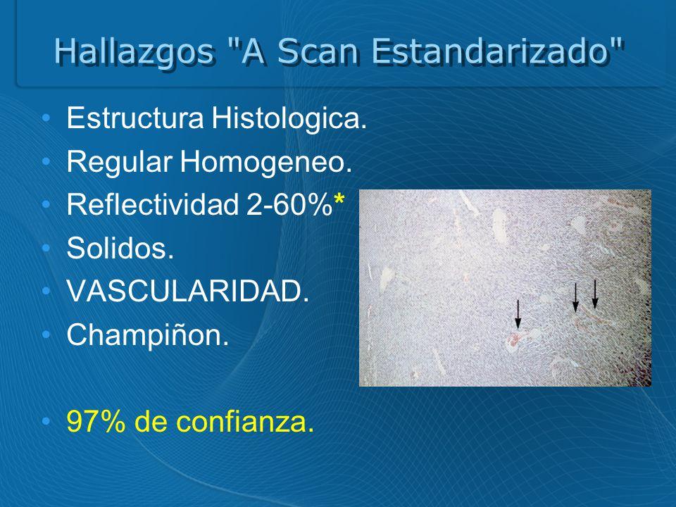 Hallazgos A Scan Estandarizado Estructura Histologica.