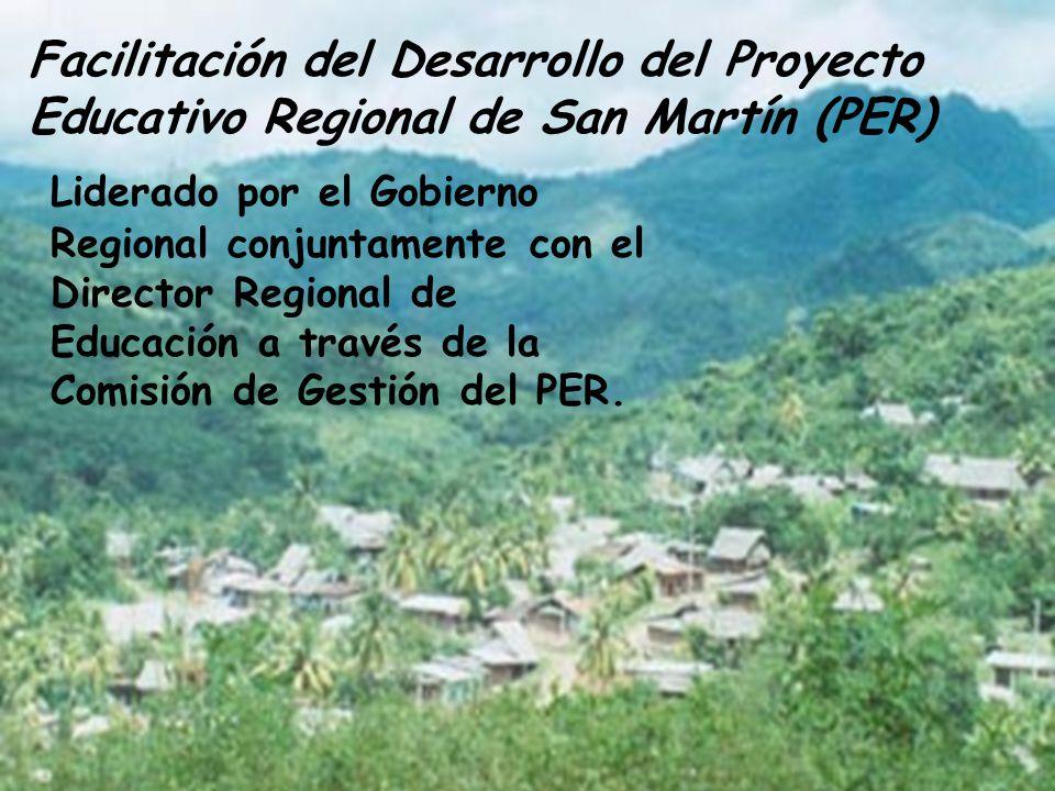 PER= Instrumento de gestión del desarrollo educativo regional Participativo, Integral y Sostenible.