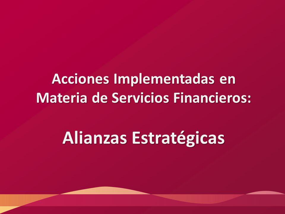 Acciones Implementadas en Materia de Servicios Financieros: Alianzas Estratégicas