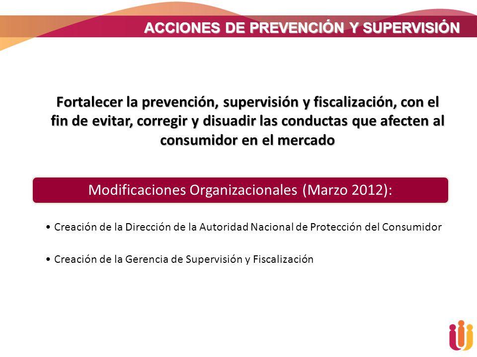 ACCIONES DE PREVENCIÓN Y SUPERVISIÓN Fortalecer la prevención, supervisión y fiscalización, con el fin de evitar, corregir y disuadir las conductas qu
