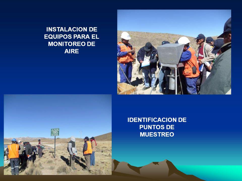 INSTALACION DE EQUIPOS PARA EL MONITOREO DE AIRE IDENTIFICACION DE PUNTOS DE MUESTREO