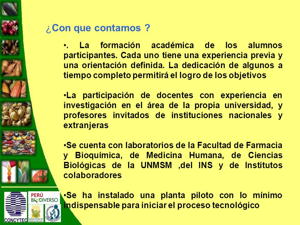 La formación académica de los alumnos participantes.