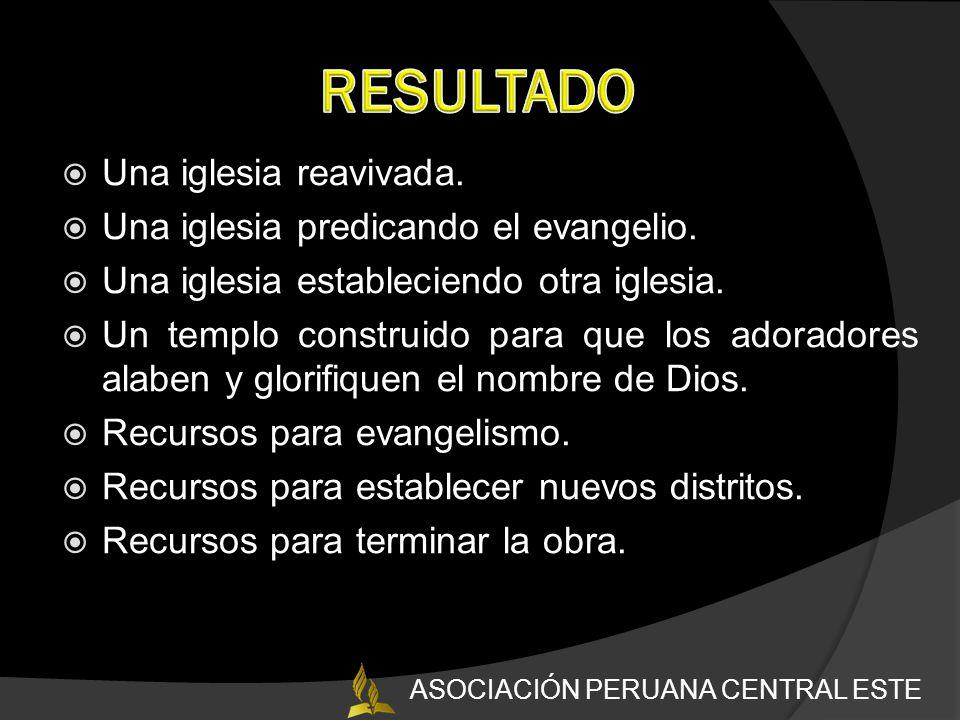 Una iglesia reavivada.Una iglesia predicando el evangelio.