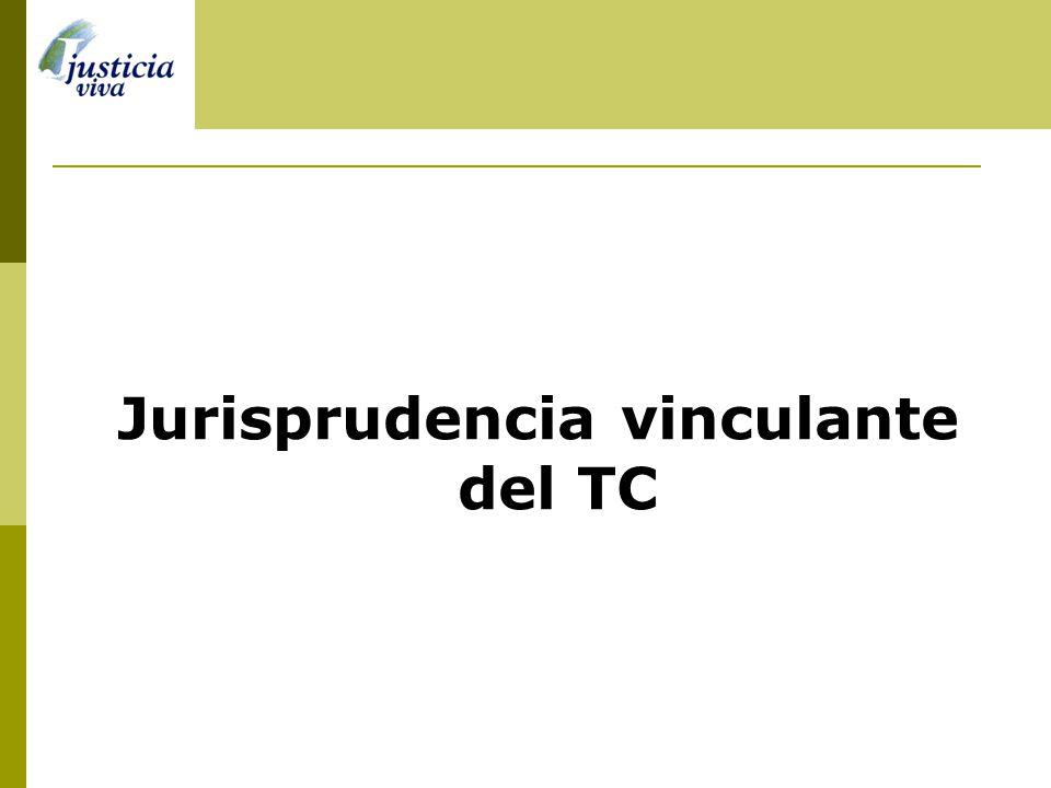 Jurisprudencia vinculante del TC