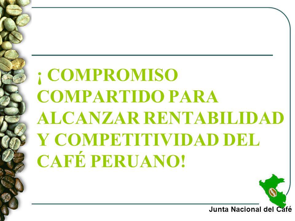 ¡ COMPROMISO COMPARTIDO PARA ALCANZAR RENTABILIDAD Y COMPETITIVIDAD DEL CAFÉ PERUANO! Junta Nacional del Café