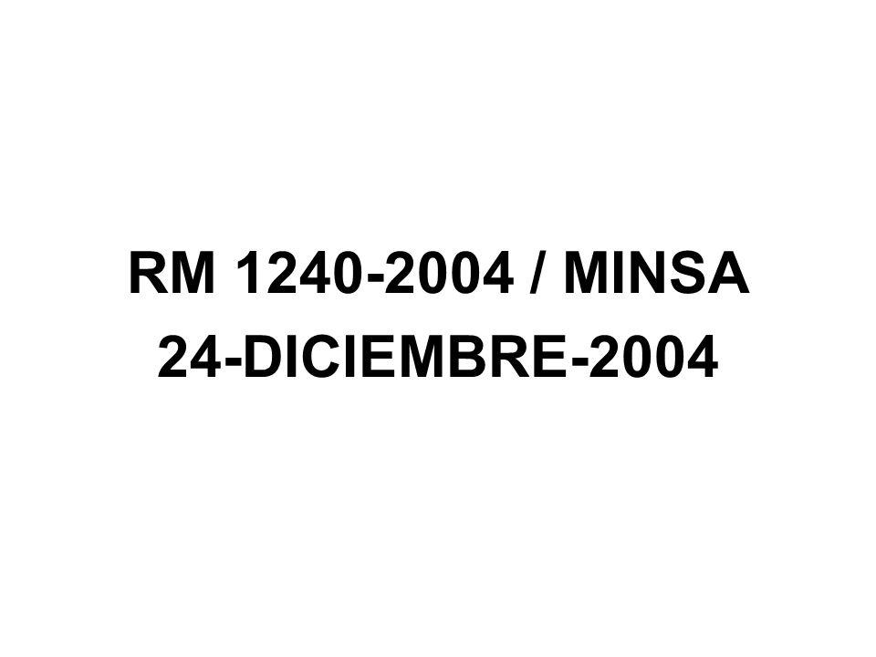 RM 1240-2004 / MINSA 24-DICIEMBRE-2004