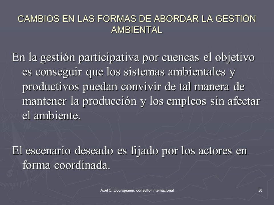 10/06/2014Aaxel Dourojeanni, asesor CONAMA Medio Ambiente Salud Interior Asuntos Extranjeros Defensa Hacienda Agricultura Transporte Mar Obras pública