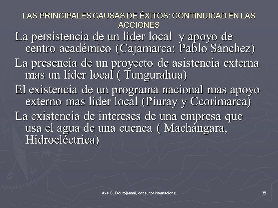 34Axel C. Dourojeanni, consultor internacional