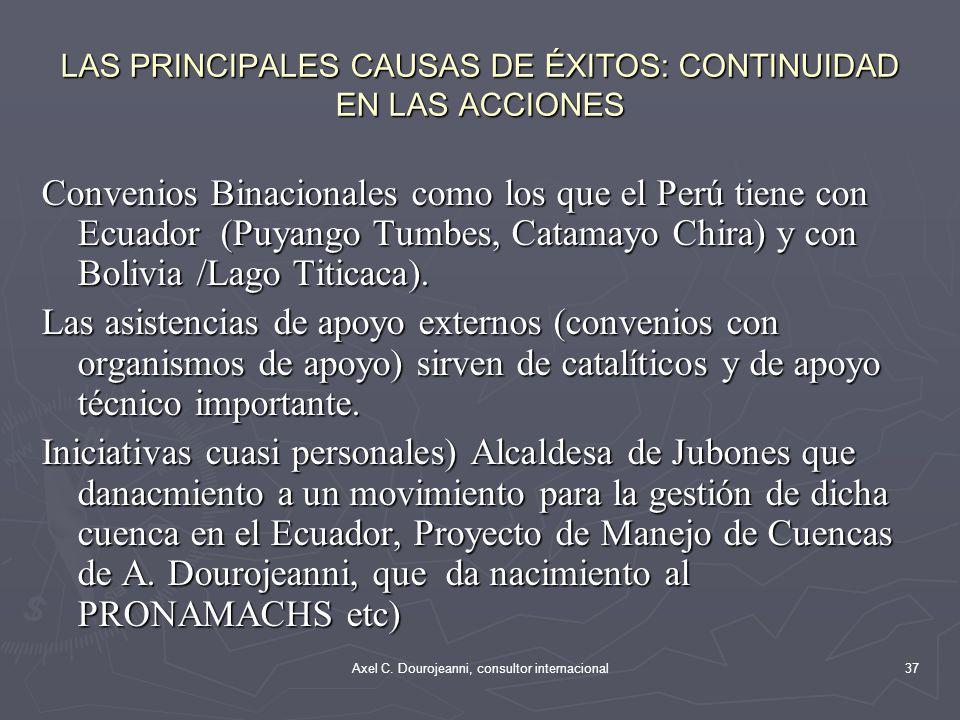 LAS PRINCIPALES CAUSAS DE ÉXITOS: CONTINUIDAD EN LAS ACCIONES La preocupación por la disminución del agua en sus cuencas (Cuenca de Cutilcay, Paute, E