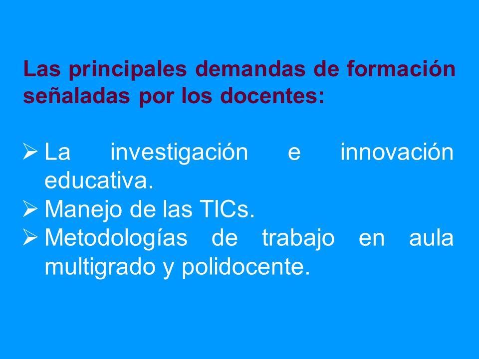 La investigación e innovación educativa. Manejo de las TICs.