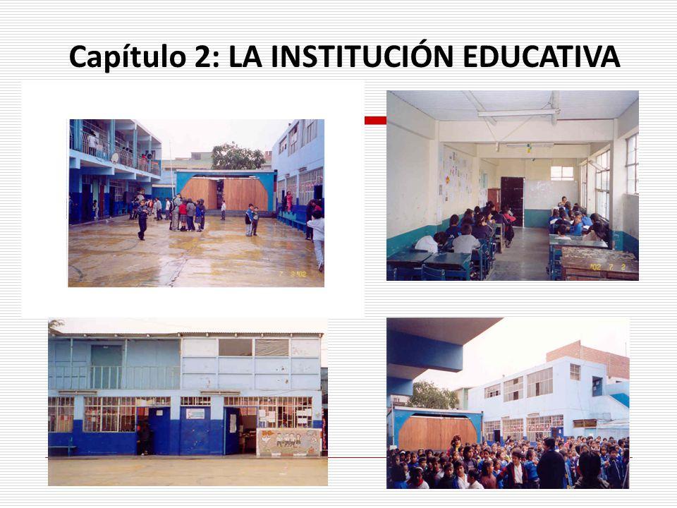 . Capítulo 2: LA INSTITUCIÓN EDUCATIVA
