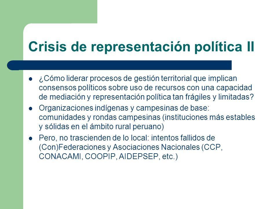 ¿Cómo liderar procesos de gestión territorial que implican consensos políticos sobre uso de recursos con una capacidad de mediación y representación p