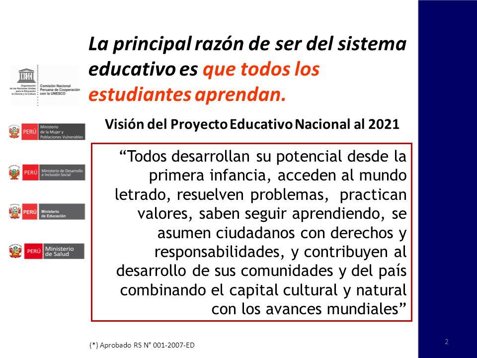 La principal razón de ser del sistema educativo es que todos los estudiantes aprendan.