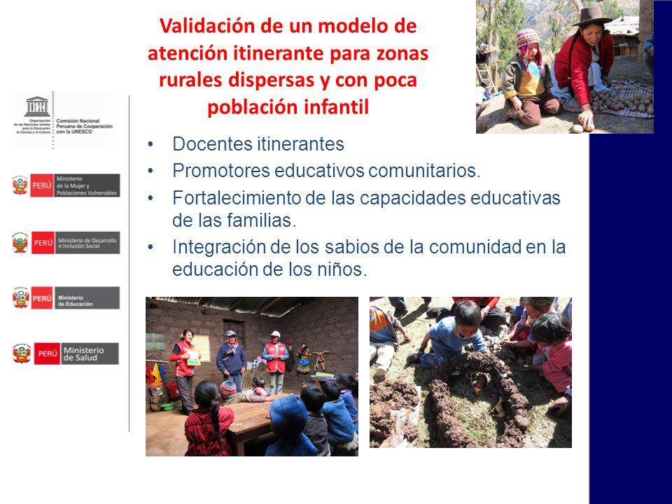 Fortalecimiento de los servicios del Ciclo I Fortalecimiento de capacidades de los equipos técnicos de las UGEL (Especialista, Profesoras Coordinadoras y Profesoras de Cuna) responsables de la atención de los niños de 0 a 3 años de edad.