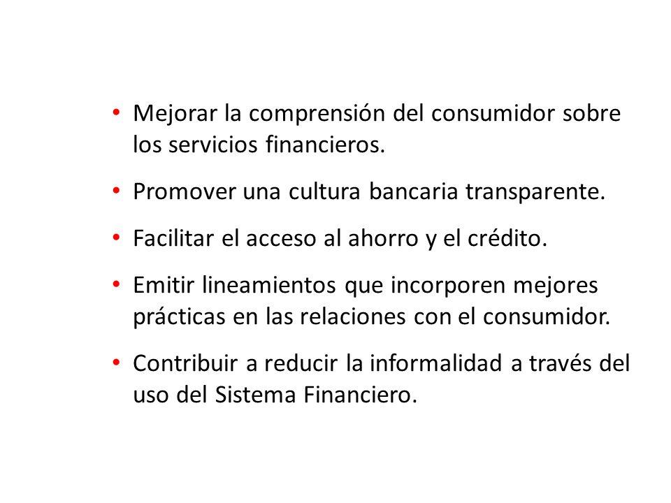 Mejorar la comprensión del consumidor sobre los servicios financieros.