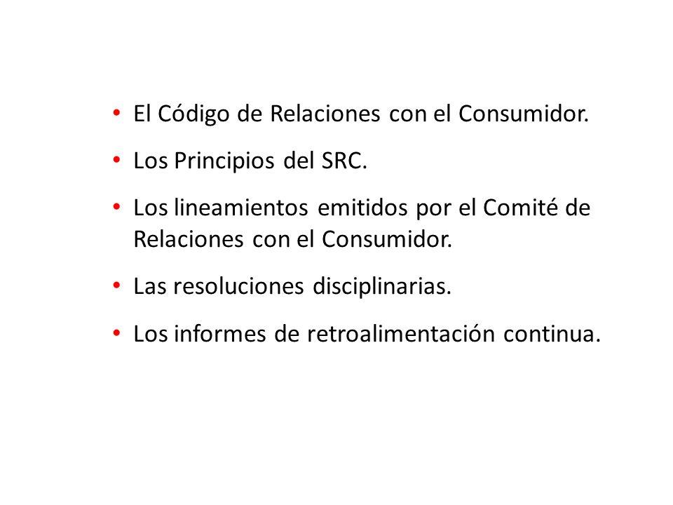 El Código de Relaciones con el Consumidor. Los Principios del SRC.