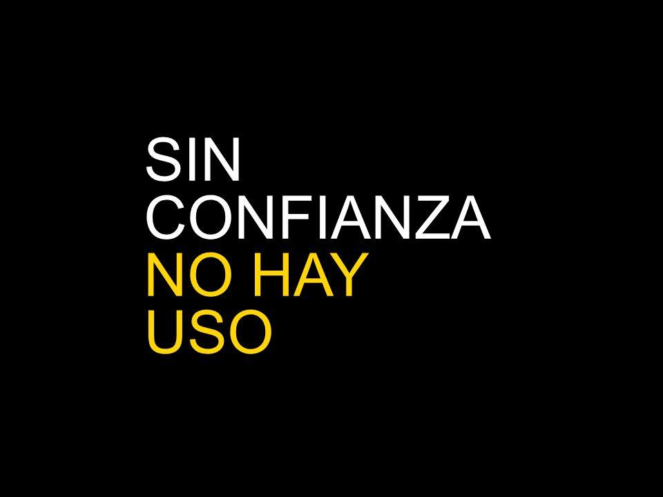 SIN CONFIANZA NO HAY USO