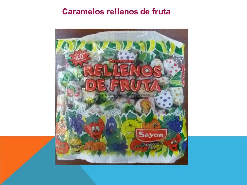 Caramelos rellenos de fruta
