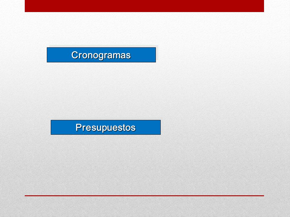 CronogramasCronogramas PresupuestosPresupuestos