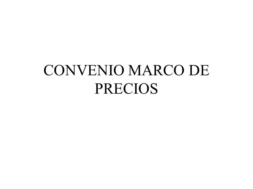 CONVENIO MARCO DE PRECIOS