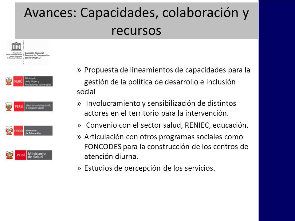 Avances: Capacidades, colaboración y recursos » Propuesta de lineamientos de capacidades para la gestión de la política de desarrollo e inclusión social » Involucramiento y sensibilización de distintos actores en el territorio para la intervención.