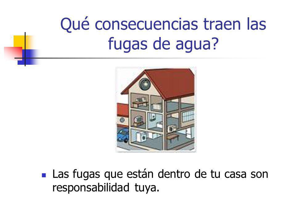 Las fugas que están dentro de tu casa son responsabilidad tuya.