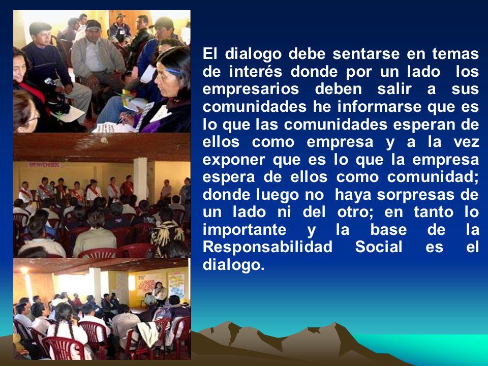 Empresarios Mineros : CMPSA Gobiernos Local: MUNICIPALIDAD DISTRITAL DE PATAZ Proveedores de servicios: Mypes Comunidad organizada: CODECOS Principales Grupos de Interés