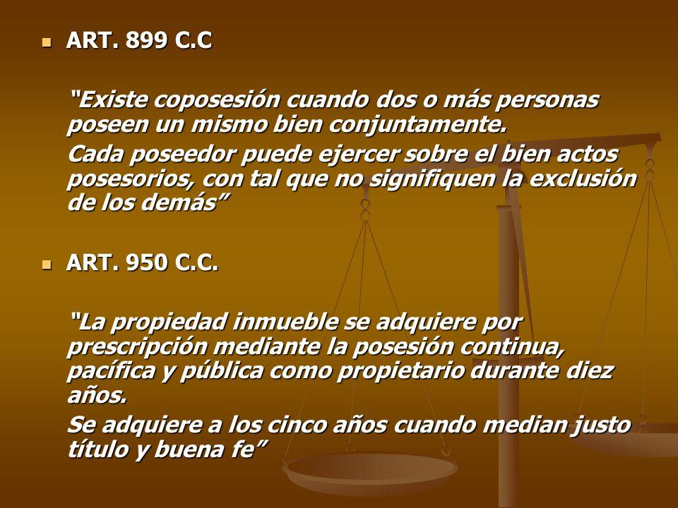 ART.899 C.C ART.