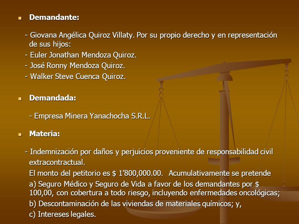 HECHOS: HECHOS: - 02 de Junio de 2000 - Centros Poblados de San Juan- Chotén - La Calera - El Tingo; Región Cajamarca.