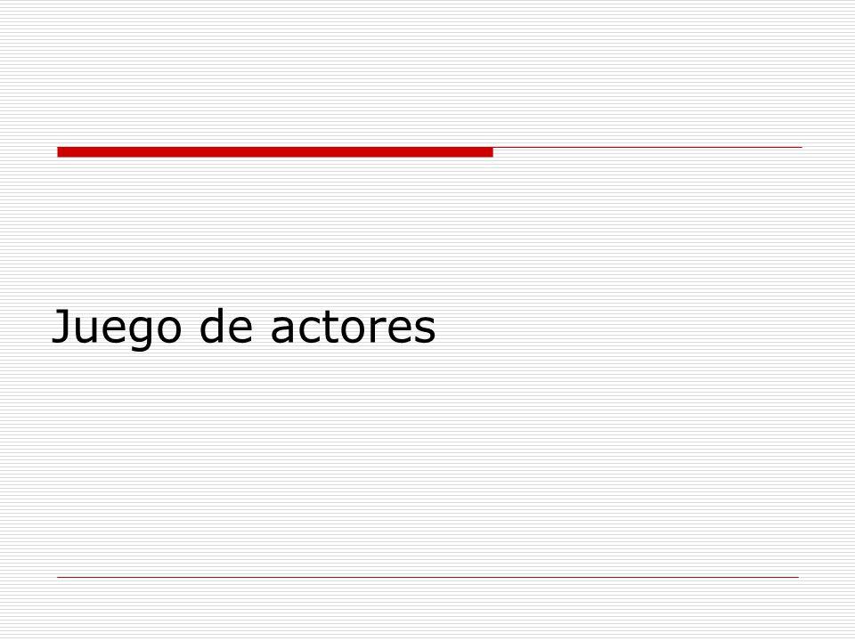 Juego de actores