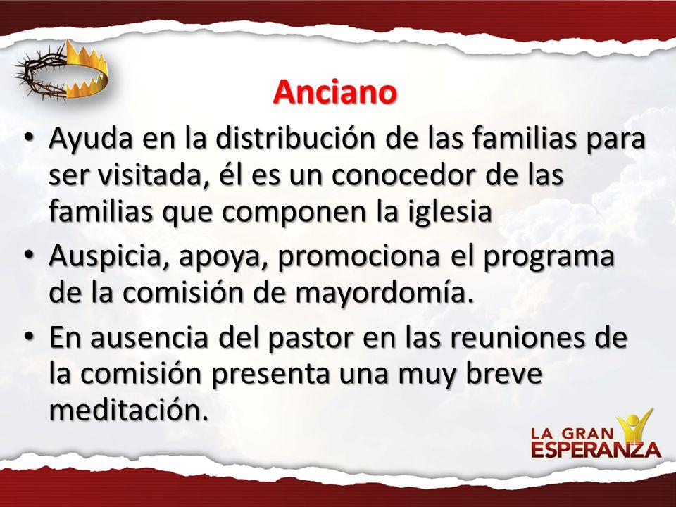 Anciano Ayuda en la distribución de las familias para ser visitada, él es un conocedor de las familias que componen la iglesia Ayuda en la distribució