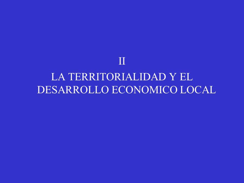II LA TERRITORIALIDAD Y EL DESARROLLO ECONOMICO LOCAL