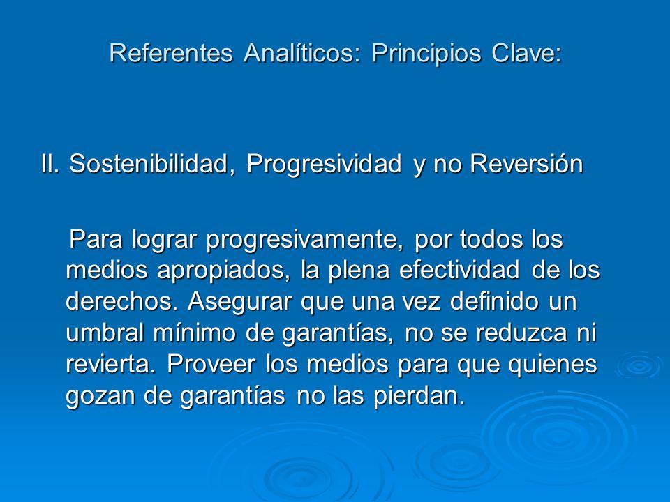 Referentes Analíticos: Principios Clave: II.