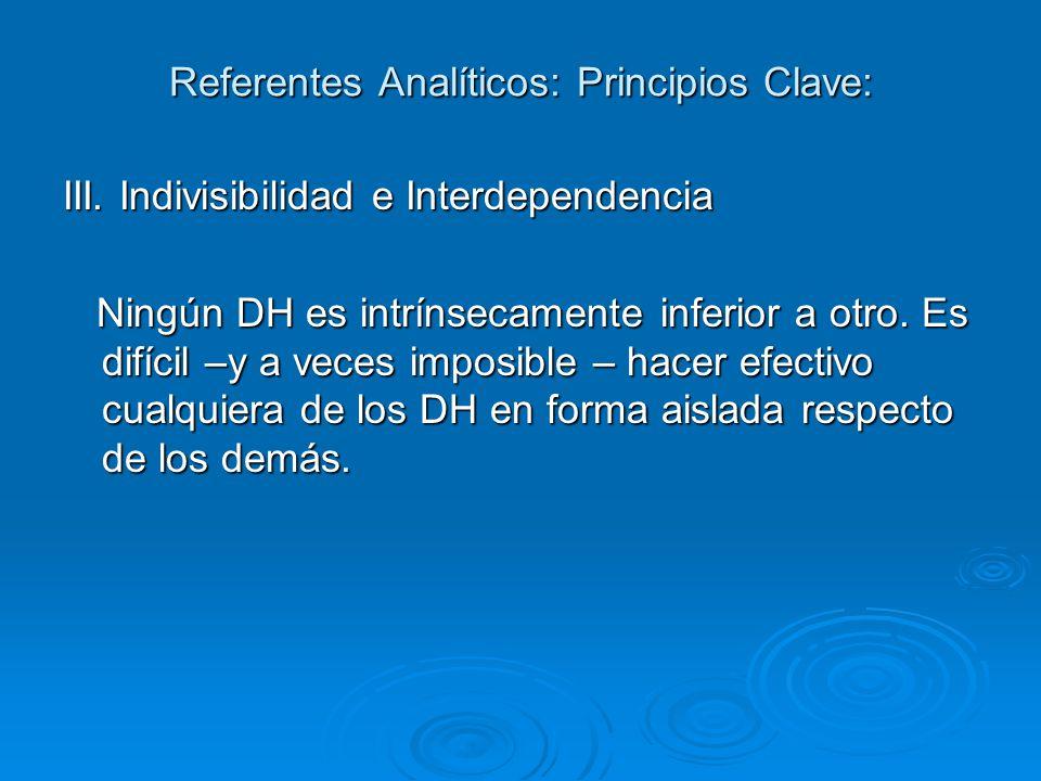 Referentes Analíticos: Principios Clave: III.